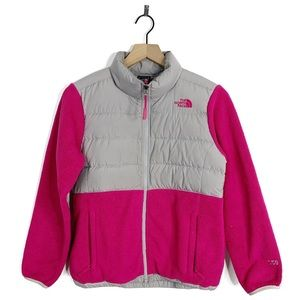The North Face Pink Fleece Puffer 550 Coat Jacket